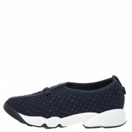 Dior Back Mesh Fusion Bead Embellished Slip On Sneakers Size 36.5 330016
