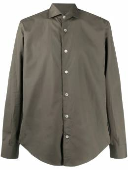 Eleventy button-down fitted shirt B75CAMA05TES0B136