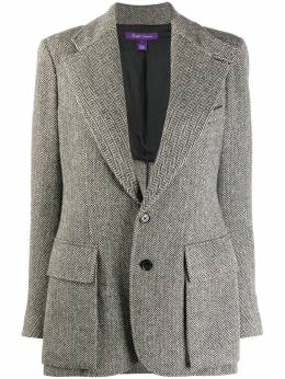 Ralph Lauren Herringbone fitted blazer 290649140002