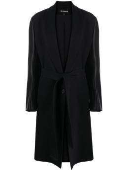 Ann Demeulemeester contrast belted coat 20021108P165099