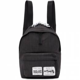 Raf Simons Black Eastpak Edition Check Pakr Backpack E5B7PG47