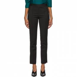 Partow Black Cotton Maurice Trousers 220503W31