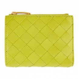 Bottega Veneta Green Mini Intrecciato Wallet 608059 VCPP3