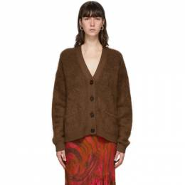 Acne Studios Brown Mohair and Wool Cardigan A60183-