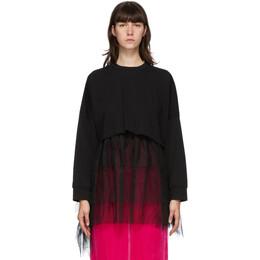 Enfold Black Layered Long Sleeve T-Shirt 300DA280-2520
