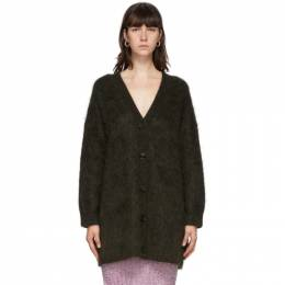 Acne Studios Green Mohair and Wool Long Cardigan A60181-