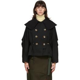 Enfold Black Big Collar Jacket 300DA330-2710