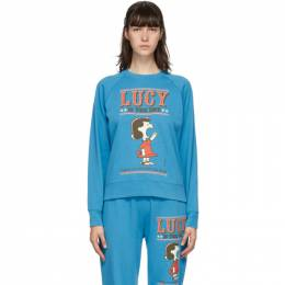 Marc Jacobs Blue Peanuts Edition French Terry Sweatshirt C6000172-430