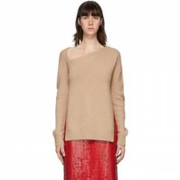 Christopher Kane Beige Wool and Cashmere Sweater PF20 JU657