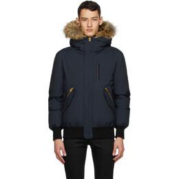 Mackage Navy Down and Fur Dixon-XR Jacket DIXON-F
