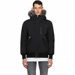 Mackage Black Down and Fur Dixon-XR Jacket DIXON-X