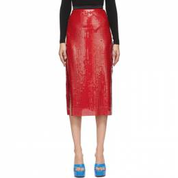 Christopher Kane Red Chainmail Skirt AW20 SK1339