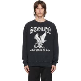 Stolen Girlfriends Club Black Eagle Strike Sweatshirt C3-20C004AC-F