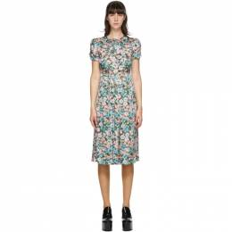 Marc Jacobs Green Silk Floral The 40s Dress V5000068