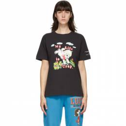 Marc Jacobs Black Magda Archer Edition My Life Is Crap T-Shirt C6000176