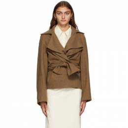 Lemaire Brown Wool Knotted Jacket W 203 JA229 LF511