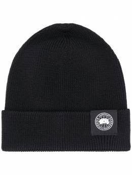 Canada Goose ribbed-knit logo patch beanie CG5002M35