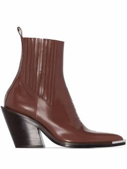 Paco Rabanne pointed-toe ankle boots 20AHH0006CLF009