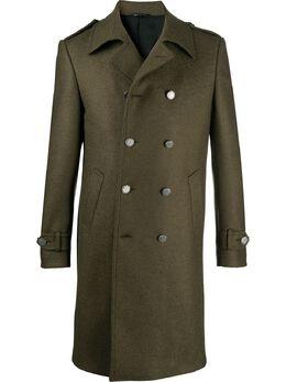 Tonello двубортное пальто строгого кроя 01C08706956U