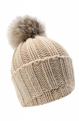 Вязаная шапка из кашемира Inverni 1128CMG1
