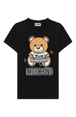 Хлопковая футболка Moschino HQM02S/LBA12/10A-14A