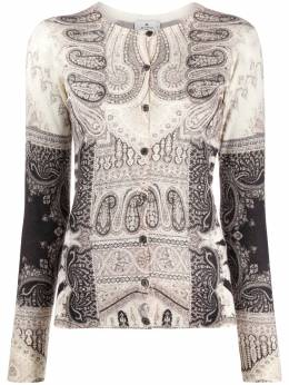 Etro paisley print knitted jumper 193709175