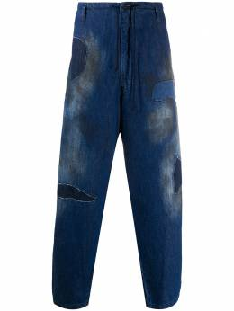 Yohji Yamamoto stained loose fit jeans HRP95094