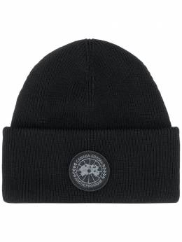 Canada Goose ribbed-knit logo patch beanie CG5123M35