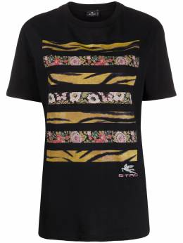 Etro graphic print short-sleeved T-shirt 192407954