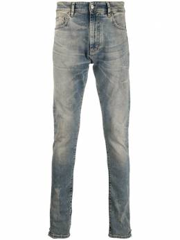 Represent faded slim-fit jeans M07043