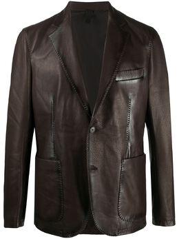 Tagliatore Carlton leather blazer CARLTONPASI2008