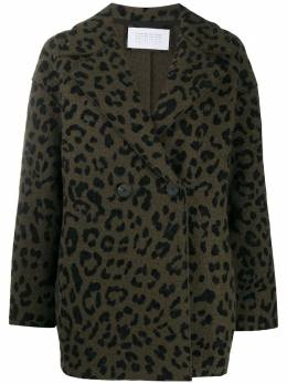 Harris Wharf London double breasted leopard print jacket A2487MS01