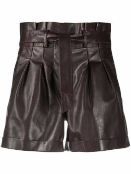 Arma belted leather shorts 006L20607402