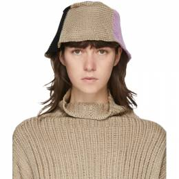 Eckhaus Latta Beige and Pink Horizon Bucket Hat 027-EL-PF20-HF