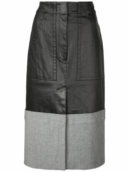 Tibi юбка-миди с контрастными вставками R219CO5152