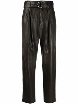 P.a.r.o.s.h. leather belted tapered trousers MAGNETED230638