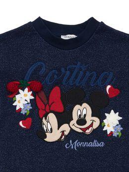 Платье Minnie & Mickey Mouse С Люрексом Monnalisa 72IFIC036-MDA1Ng2
