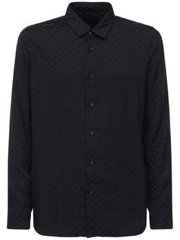 Жаккардовая Рубашка Из Вискозы Amiri 72I6TX036-QkxBQ0s1