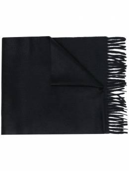 Ermenegildo Zegna кашемировый шарф с бахромой Z8L4026N