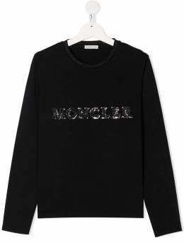 Moncler Kids топ с логотипом F29548D7141087275