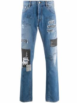 Just Cavalli джинсы прямого кроя с эффектом потертости S03LA0124N31851