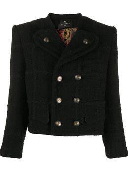 Etro укороченный двубортный пиджак 187980504