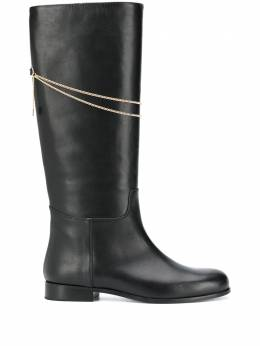 MSGM chain-detail knee-length boots 2941MDS8364327