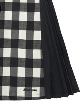 Check Wool Blend Dress Simonetta 72I901020-OTMwQkM1
