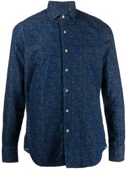 Xacus рубашка на пуговицах с цветочным узором 748ML71517