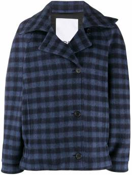 Kenzo off-centre fastening checked jacket FA62MA0389CA