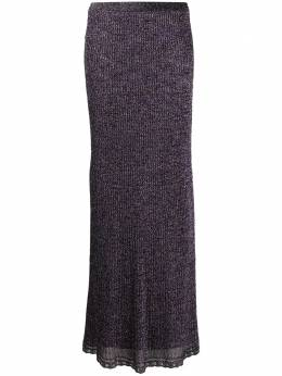 M Missoni metallic rib knit skirt 2DH001512K006N