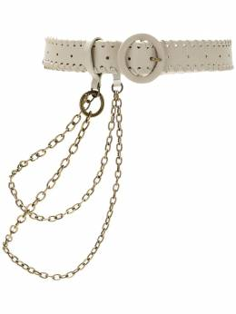 NK leather belt with chain AC050341