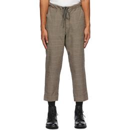 Greg Lauren Brown Wool Houndstooth Trousers SS20M211