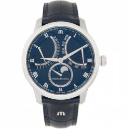 Maurice Lacroix Blue Masterpiece Moon Retrograde Watch MP6608-SS001-410-1